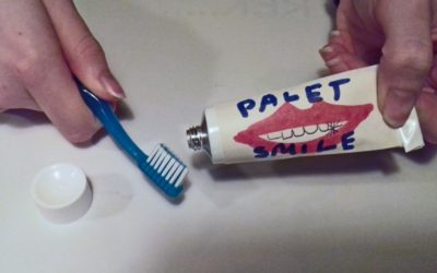 Making tooth paste.